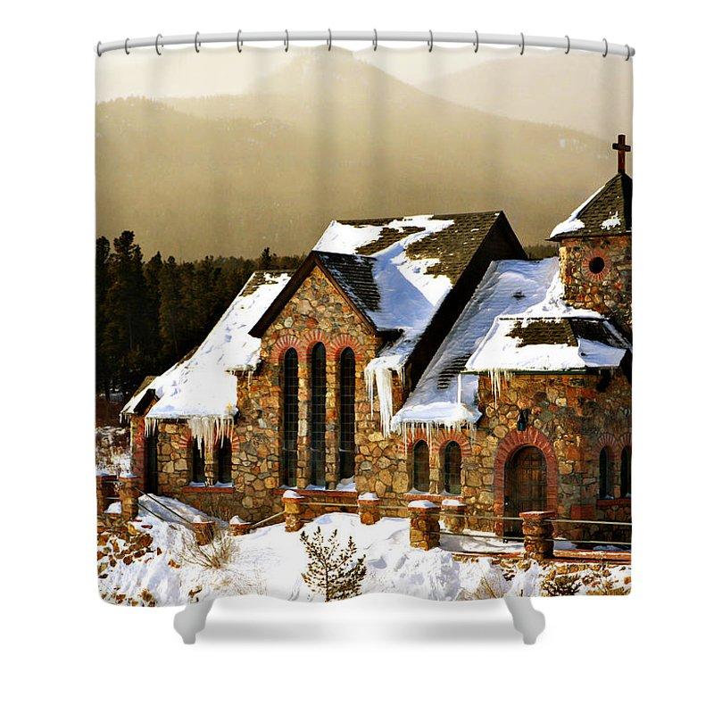 Americana Shower Curtain featuring the photograph Icicles by Marilyn Hunt