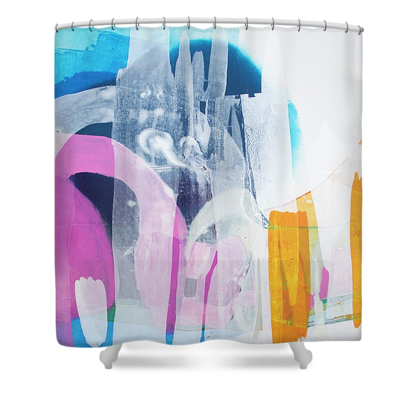 Abstract Shower Curtain featuring the painting Icing On The Cake by Claire Desjardins