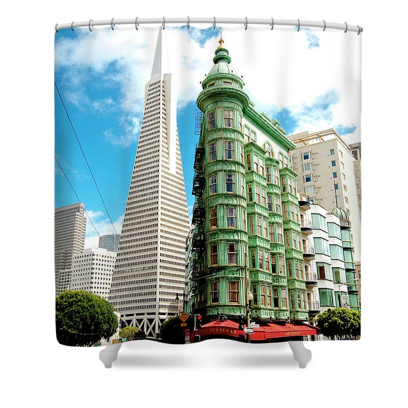 City Shower Curtain featuring the photograph Icons Of San Fran by Greg Fortier