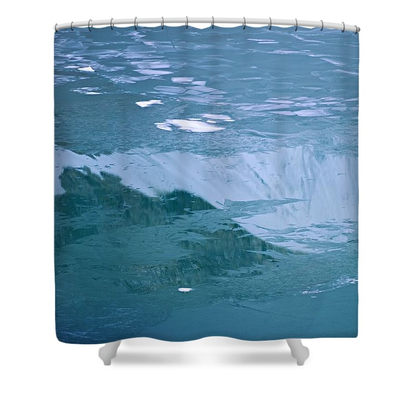 Jasper National Park Shower Curtain featuring the photograph Icy Reflection by Larry Ricker