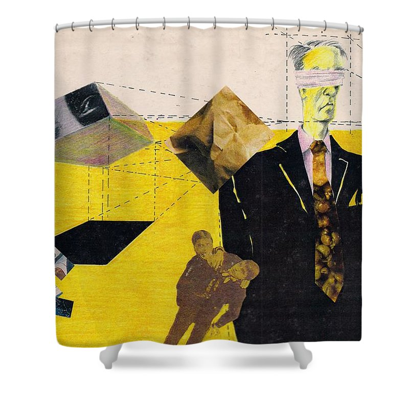Idol Icon Conflict Lies Vicious Shower Curtain featuring the mixed media Idolatry by Veronica Jackson