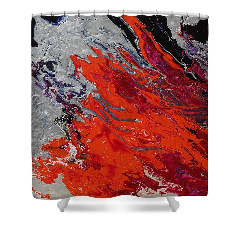 Fusionart Shower Curtain featuring the painting Ignition by Ralph White
