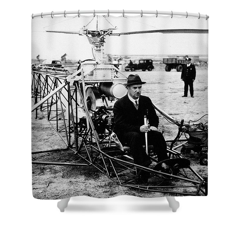 1940 Shower Curtain featuring the photograph Igor Ivan Sikorsky by Granger