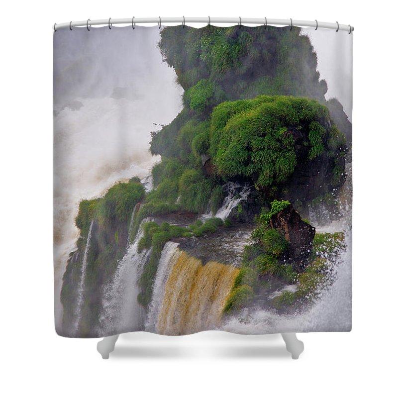 Iguazu Shower Curtain featuring the photograph Iguazu Falls Viii by Bernardo Galmarini