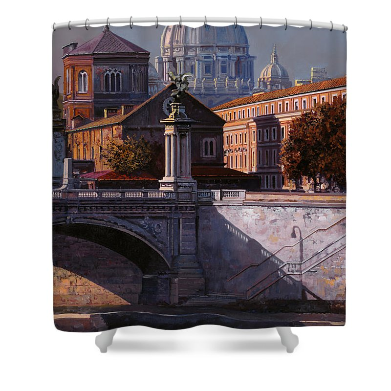 Rome Shower Curtain featuring the painting Il Cupolone by Guido Borelli