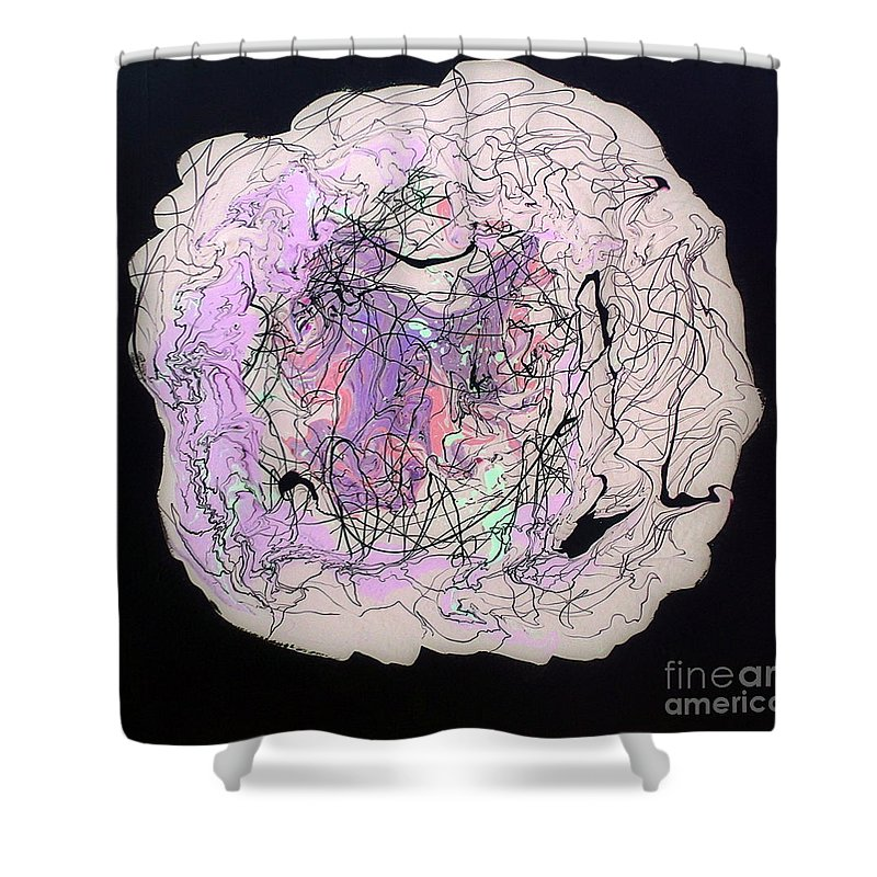 I'll Be Dreaming Shower Curtain featuring the painting I'll Be Dreaming by Dawn Hough Sebaugh