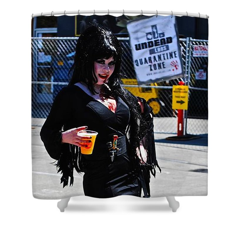 Zombie Shower Curtain featuring the photograph I'll Put A Spell On You by Katy Granger