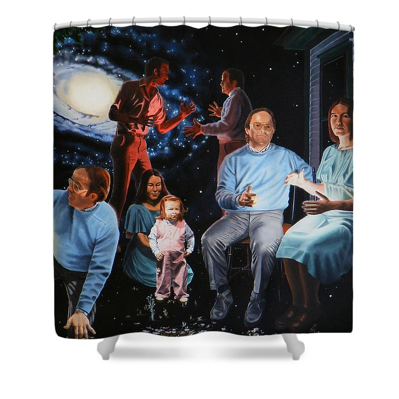 Surreal Shower Curtain featuring the painting Illumination Beyond Ursa Major by Dave Martsolf