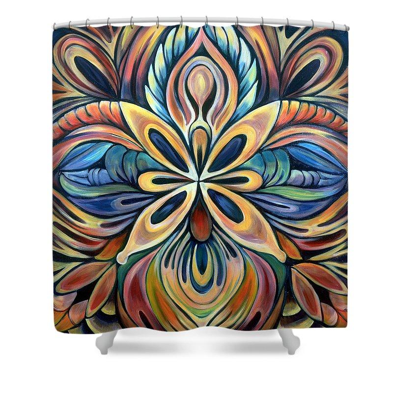 Mandala Shower Curtain featuring the painting Illumination by Shadia Derbyshire