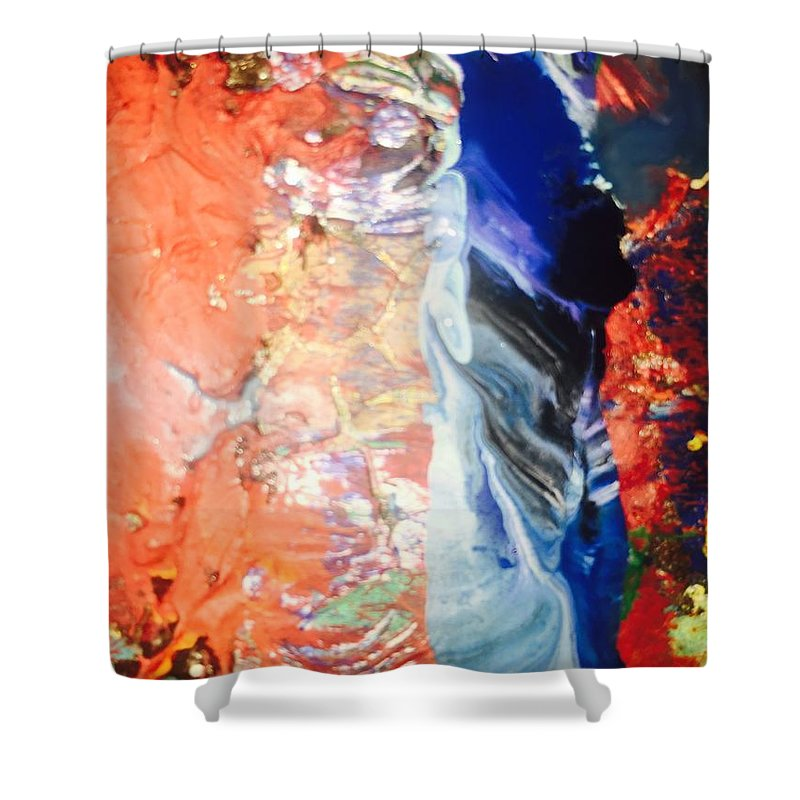 Black Days Shower Curtain featuring the painting I'm A Searchlight Soul They Say by Edward Paul