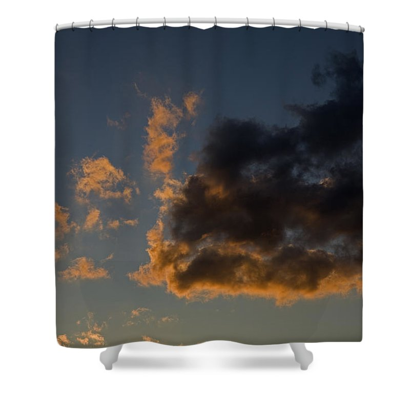 Nobody Shower Curtain featuring the photograph Image Of Clouds At Sunset by Tim Laman