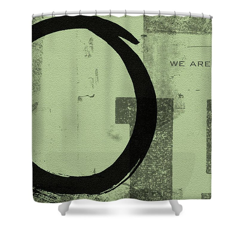 Green Shower Curtain featuring the painting Image Of Peace by Julie Niemela