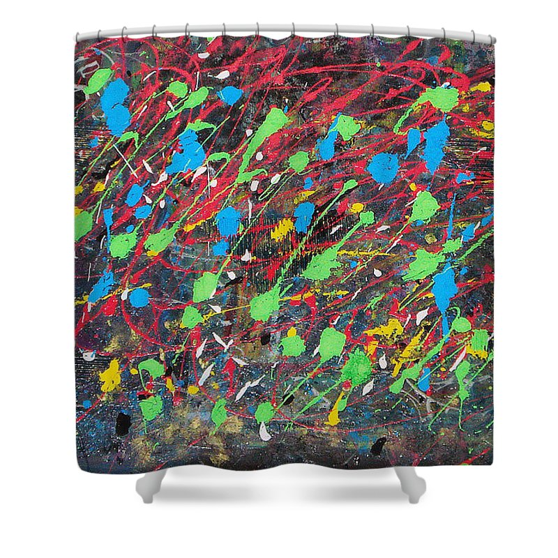 Acrylic Panting Shower Curtain featuring the painting Imagination by Yael VanGruber