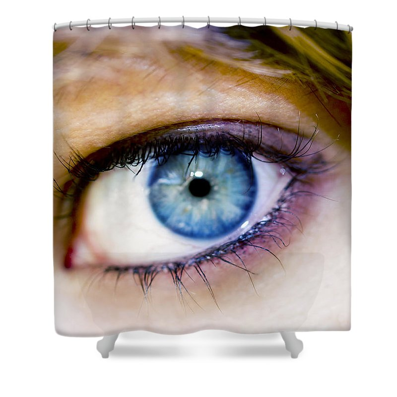 Eye Shower Curtain featuring the photograph Imagine by Kelly Jade King