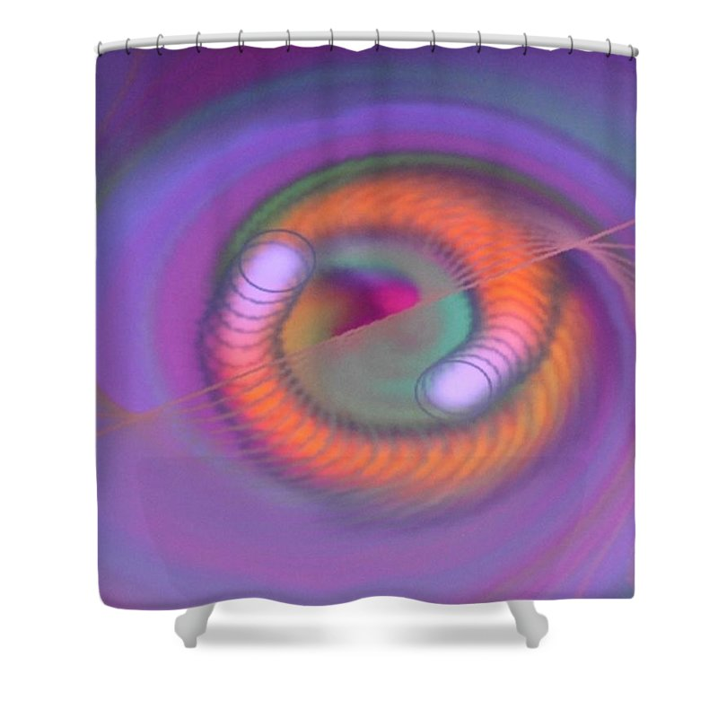 Digital Art Shower Curtain featuring the digital art Img 0002 by Ralph Root