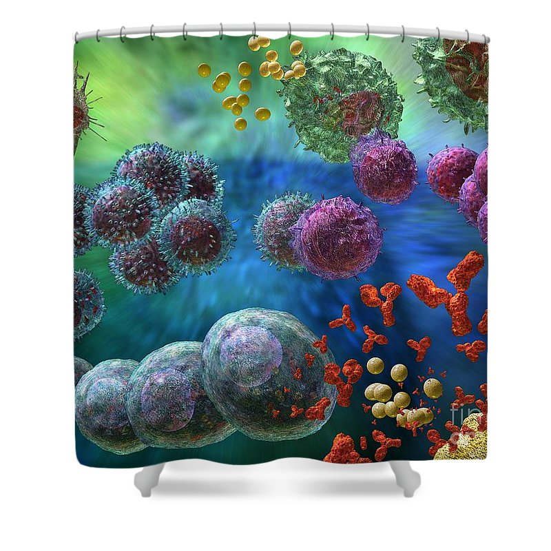 Virology Photographs Shower Curtains