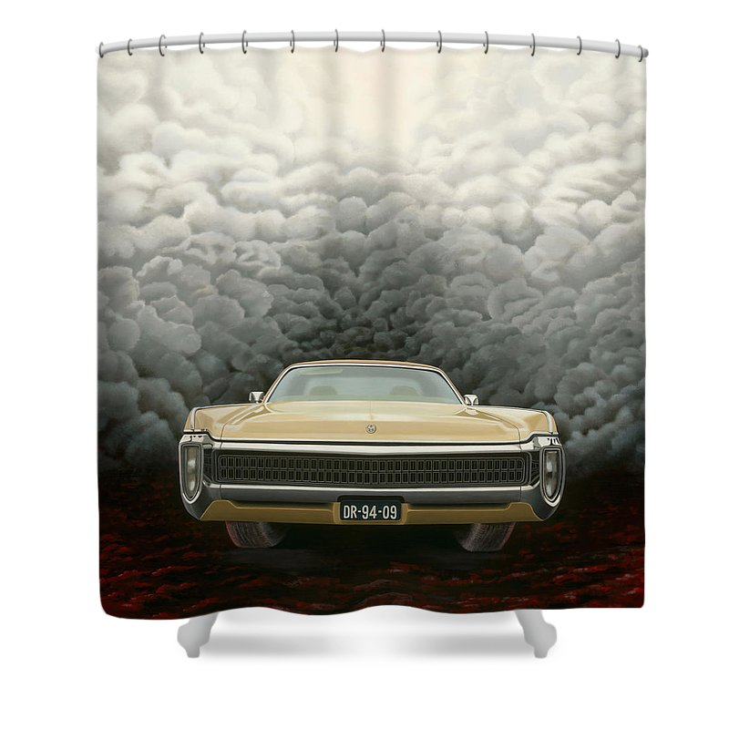 Surreal Shower Curtain featuring the painting Imperial by Patricia Van Lubeck