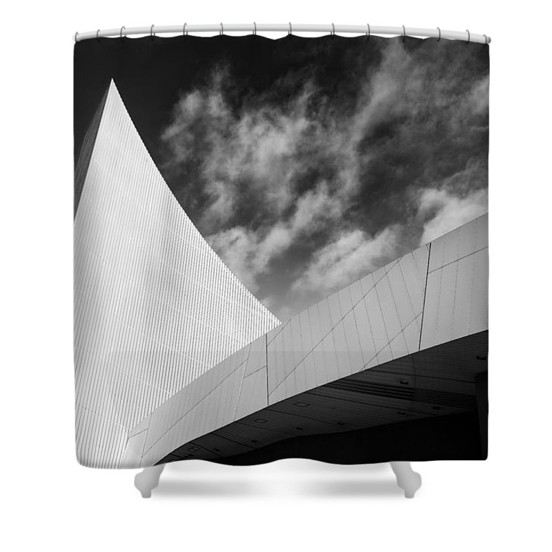 England Shower Curtain featuring the photograph Imperial War Museum, Manchester by Peter OReilly