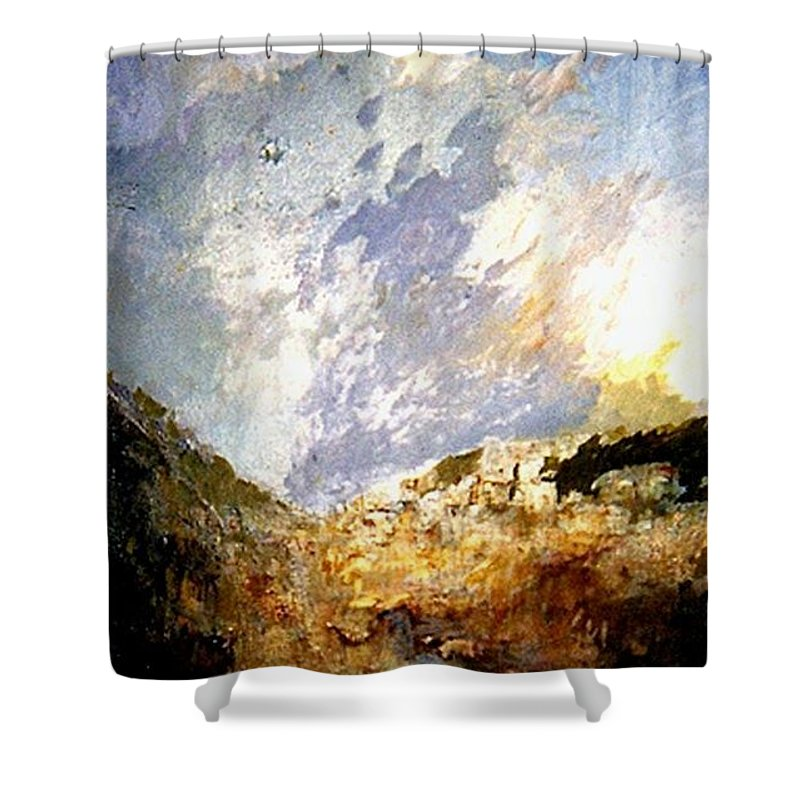 Art Lab -experiment Color Fusion Shower Curtain featuring the painting Impesion 2 by Fikret Sejfulovic