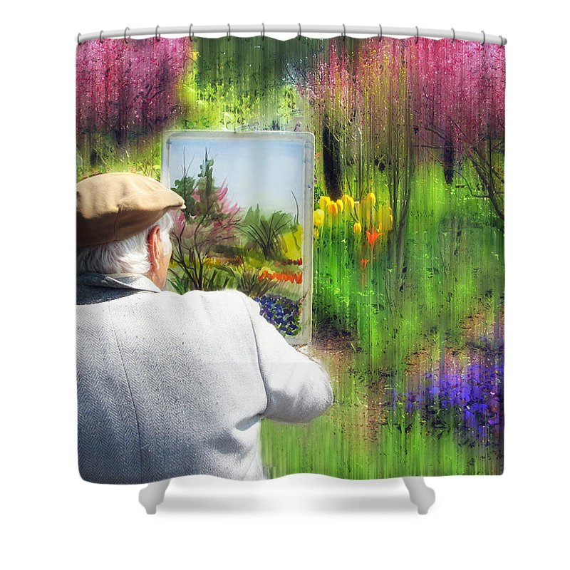 Artist Shower Curtain featuring the photograph Impressionist Painter by Jessica Jenney