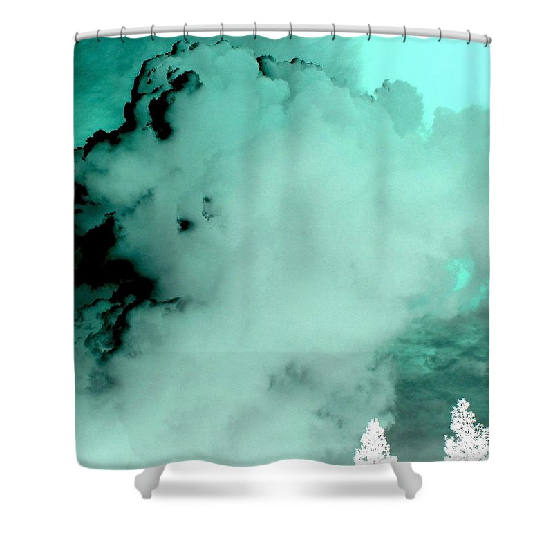 Impressions Shower Curtain featuring the digital art Impressions 10 by Will Borden