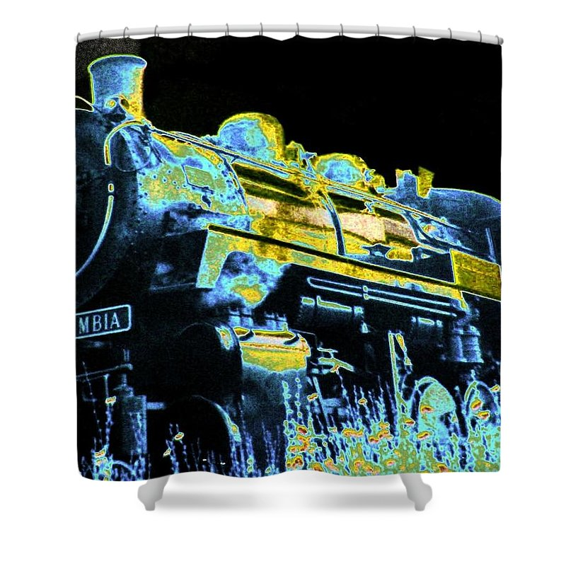 Impressions Shower Curtain featuring the digital art Impressions 11 by Will Borden