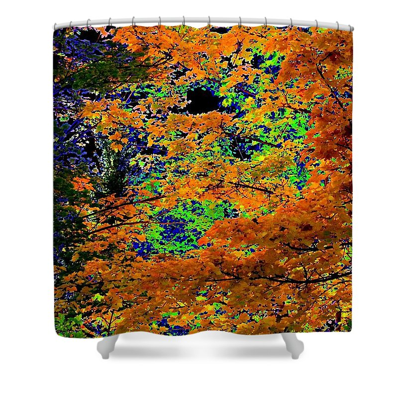 Impressions Shower Curtain featuring the digital art Impressions 3 by Will Borden
