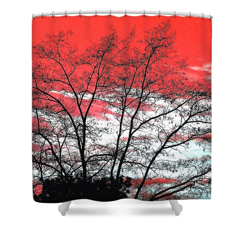 Impressions Shower Curtain featuring the digital art Impressions 6 by Will Borden