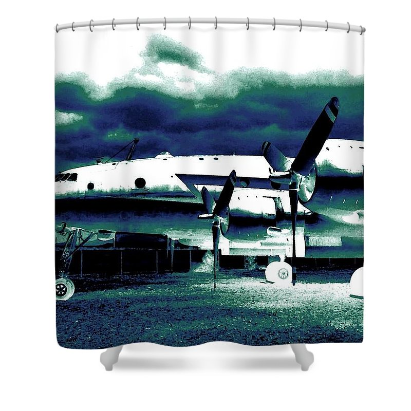 Impressions Shower Curtain featuring the digital art Impressions 7 by Will Borden