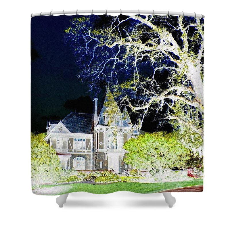 Impressions Shower Curtain featuring the digital art Impressions 9 by Will Borden