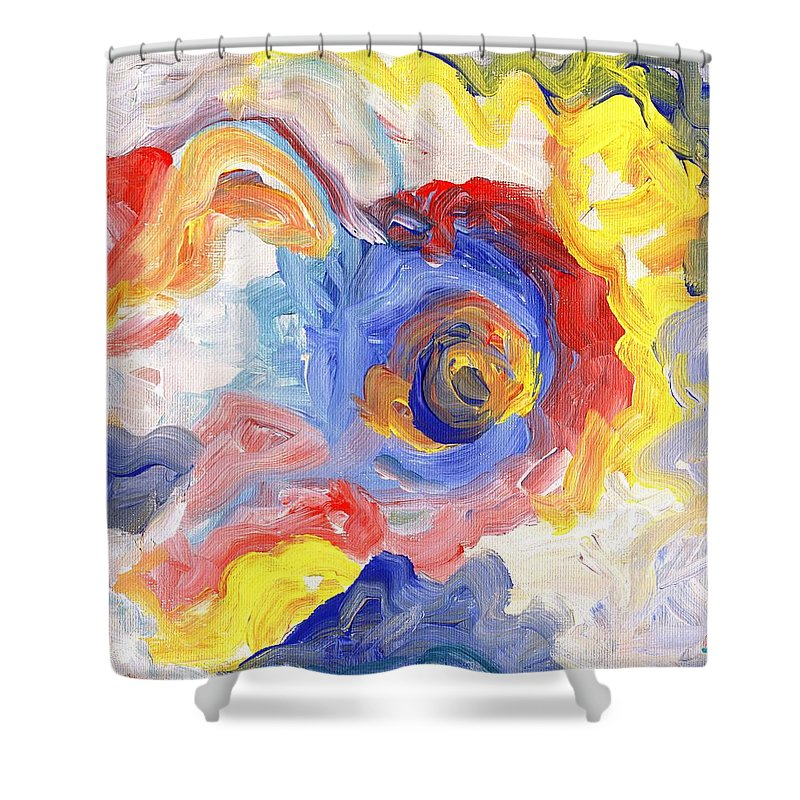 Contemporary Shower Curtain featuring the digital art Impulse Projected by Linda Mears