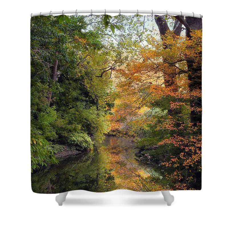 Nature Shower Curtain featuring the photograph In A Mirror by Jessica Jenney