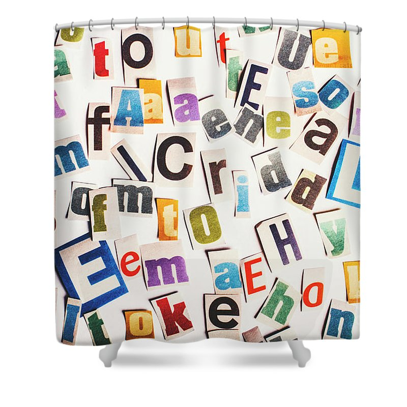 Newspaper Shower Curtain featuring the photograph In Clues Of A Riddle by Jorgo Photography - Wall Art Gallery