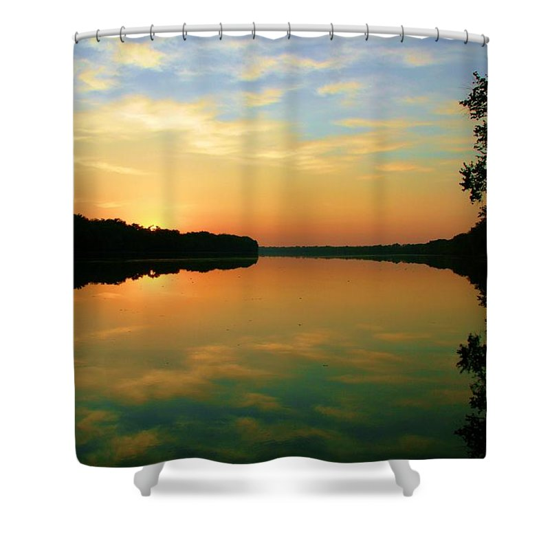 Landscape Shower Curtain featuring the photograph In Faith by Mitch Cat