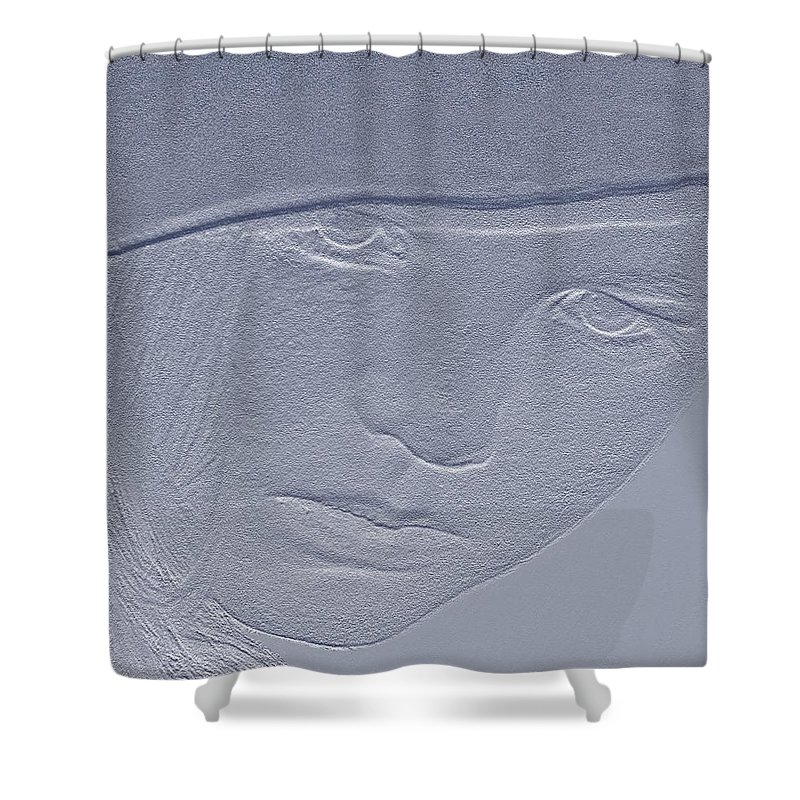 Sketch Shower Curtain featuring the photograph In Her Eyes 2 by Tiffany Steiner