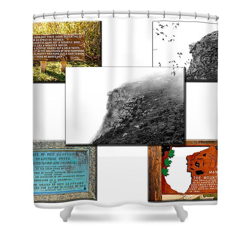 Montage Shower Curtain featuring the photograph In Memoriam by Greg Fortier