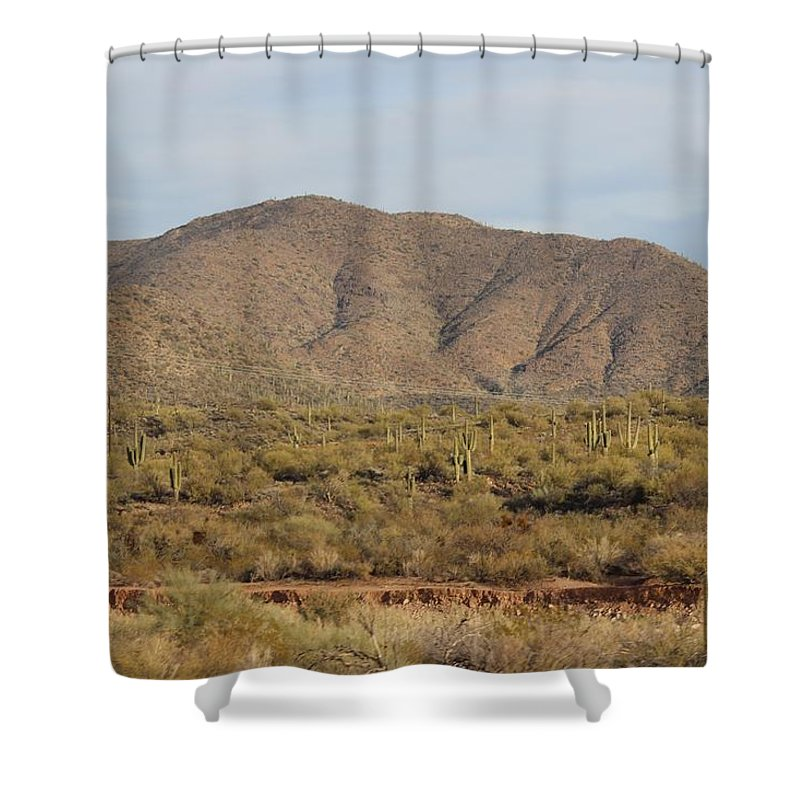Landscape Shower Curtain featuring the photograph In Natural Form by David Dowlen
