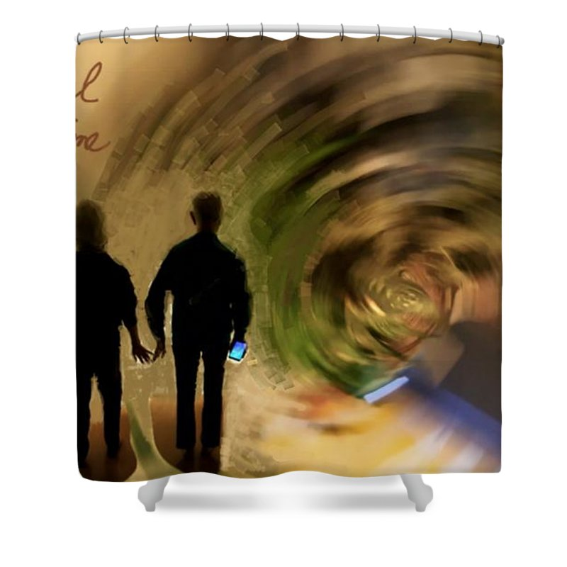 Silhouettes Shower Curtain featuring the photograph In Our Time by CD Ostenak