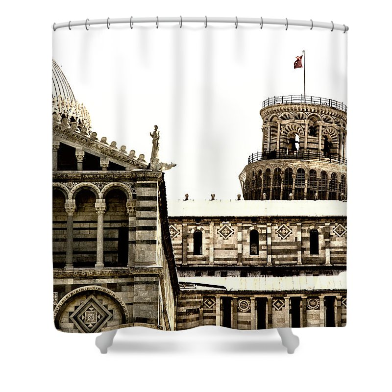 Pisa Shower Curtain featuring the photograph In Pisa by Mick Burkey