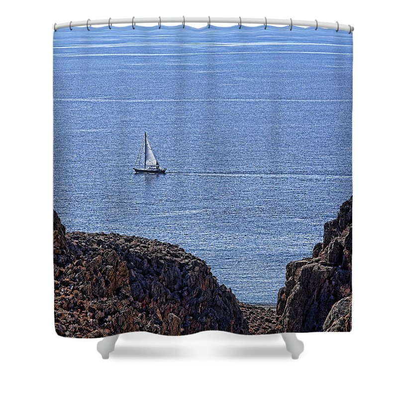 Canyon Shower Curtain featuring the photograph In Search Of Atlantis-3 by Casper Cammeraat