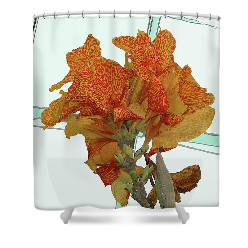 Flower Shower Curtain featuring the photograph In The Conservatory by Rich Bodane