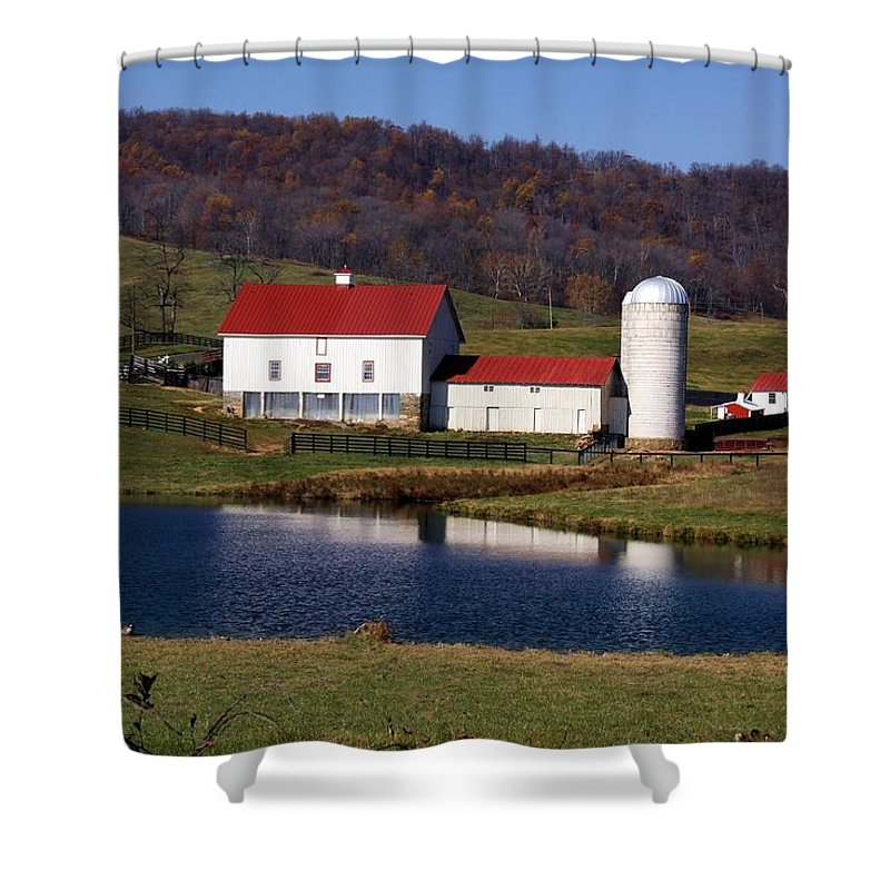 Landscape Shower Curtain featuring the photograph In The Country by Mitch Cat