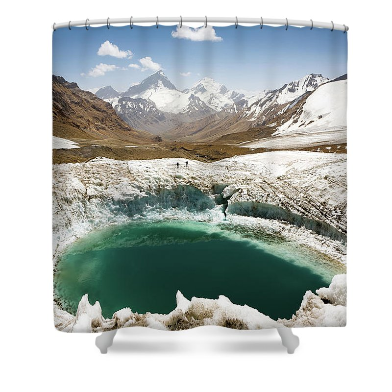 Art Shower Curtain featuring the photograph In The Depth Of Pamir by Konstantin Dikovsky