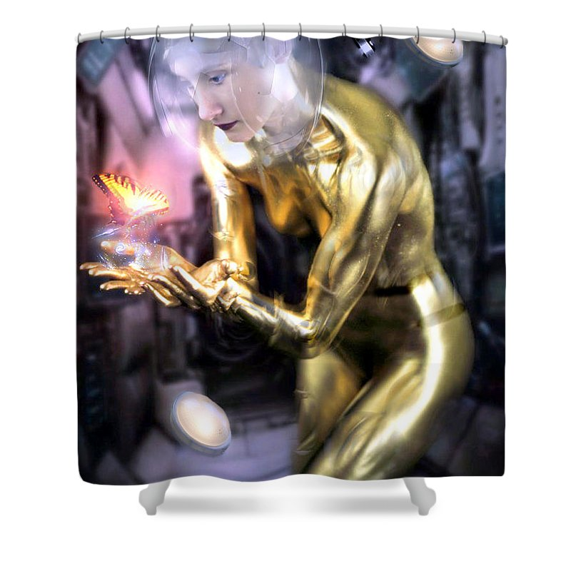 Finr Art Shower Curtain featuring the photograph In The Future by Cliff Nixon