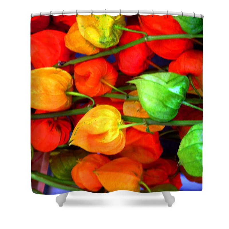 Market Shower Curtain featuring the photograph In The Market by Ian MacDonald