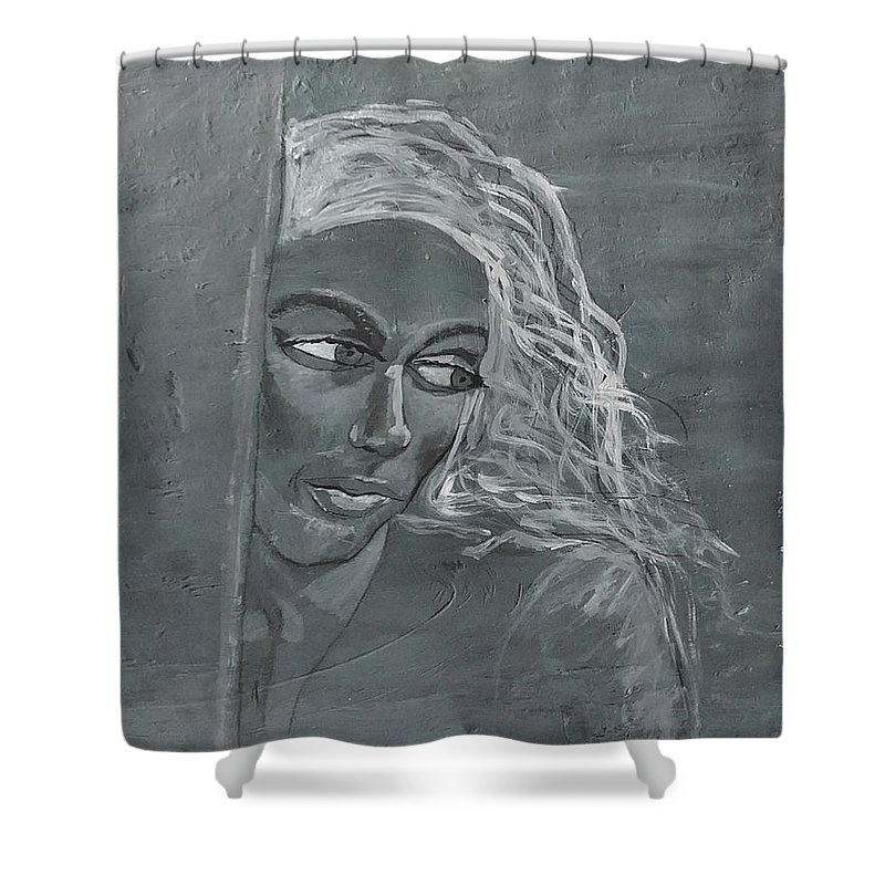 Women Shower Curtain featuring the painting In The Moon Light by J Bauer