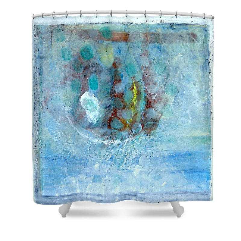 Nature Shower Curtain featuring the painting In The Name Of Rain-9 by Antoaneta Melnikova- Hillman