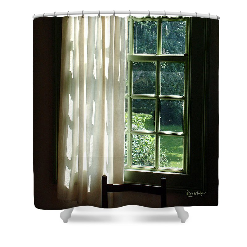 Window Shower Curtain featuring the photograph In The Quiet Of The Afternoon by RC deWinter