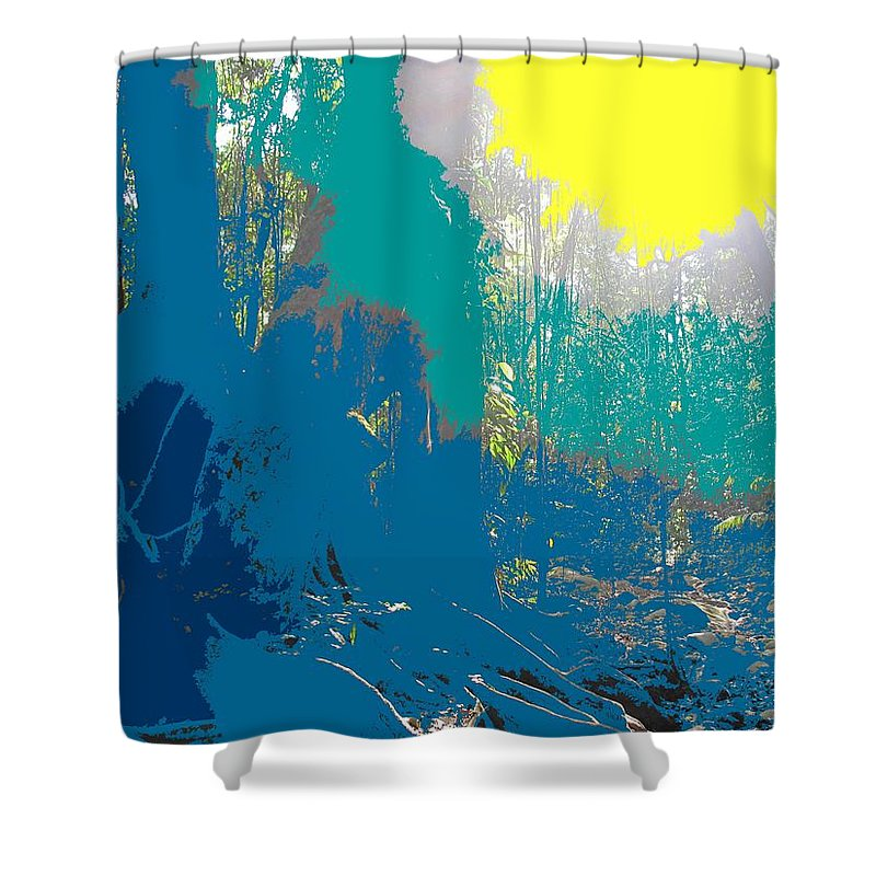 Rainforest Shower Curtain featuring the photograph In The Rainforest by Ian MacDonald