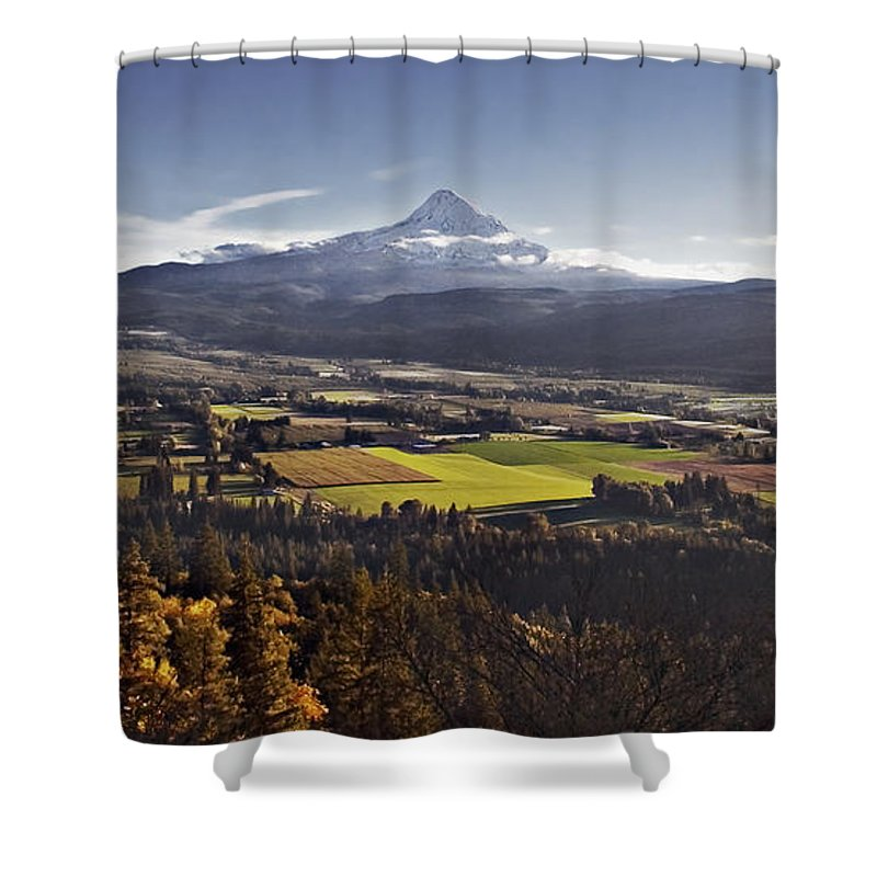 Mt. Hood Shower Curtain featuring the photograph In The Shadow by John Christopher